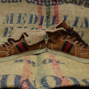 73786f2d6ff Gucci Shoes - RARE Gucci suede   shearling sneakers